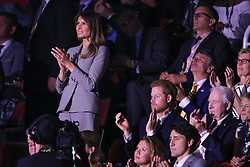 Prince Harry joined the First Lady Melania Trump and Canadian Premier Justin Trudeau at the opening ceremony of the Invictus games in Toronto<br />