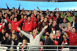 Bristol City fans at Cardiff  - Mandatory byline: Dougie Allward/JMP - 07966 386802 - 26/10/2015 - FOOTBALL - Cardiff City Stadium - Cardiff, Wales - Cardiff City v Bristol City - Sky Bet Championship