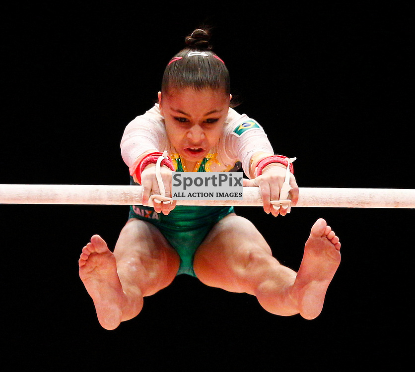 2015 Artistic Gymnastics World Championships being held in Glasgow from 23rd October to 1st November 2015...Flavia Lopes Saraiva (Brazil) competing in the Uneven Bars competition...(c) STEPHEN LAWSON | SportPix.org.uk
