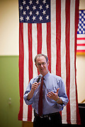 13 OCTOBER 2010 - TUCSON, AZ: Terry Goddard talks to the crowd during opening statements at a candidate forum in Tucson. He spent the day in Tucson campaigning. Goddard lost the election to sitting Governor Jan Brewer, a conservative Republican.     PHOTO BY JACK KURTZ