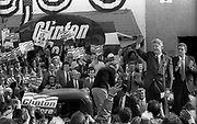 Bill Clinton as Governor of Arkansas and US Presidential Candidate during the Presidential Election Campaign October 1992. Scans made in 2017.<br /> Seen here: The Candidate Bill Clinton at an election rally in West Philadelphia.<br /> Photographs on the road on the 1992 Presidential Election campaign trail from Philadelphia and down the eastern states to Atlanta in Georgia. Clinton went on to become the 42nd President of the United States serving two terms from 1993 to 2001.