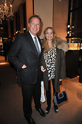 ORLANDO & CLEMENTINE FRASER at a party to celebrate the launch of Simon Sebag-Montefiore's new book - 'Jerusalem: The Biography' held at Asprey, 167 New Bond Street, London on 26th January 2011.