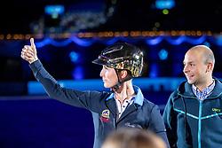 BLUM Simone (GER)<br /> München - Munich Indoors 2018<br /> Showabend - Die Nacht der WM Helden<br /> Ehrung<br /> 24. November 2018<br /> © www.sportfotos-lafrentz.de/Stefan Lafrentz