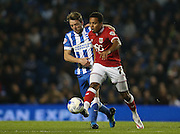 Bristol City midfielder Korey Smith (7) breaks from midfield during the Sky Bet Championship match between Brighton and Hove Albion and Bristol City at the American Express Community Stadium, Brighton and Hove, England on 20 October 2015.
