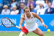 Barbora Strycova in action during the final during the Aegon Classic at Edgbaston Priory Club, Birmingham, United Kingdom on 19 June 2016. Photo by Shane Healey.