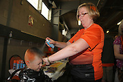Getting Tangerine and Black hair - Dundee United open day at Tannadice<br /> <br />  - Pictures © David Young