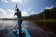 Macapa_AP, Brasil...Comunidade remascente de quilombolas do Curiau, em Macapa, Amapa. Na foto morador no Rio Curiau...The Quilombola remaining of Curiau, in Macapa, Amapa. In this photo a resident in Curiau river...Foto: JOAO MARCOS ROSA / NITRO