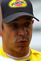 May 18, 2018 - Indianapolis, INDIANA, United States of America - 3 HELIO CASTRONEVES (BRA) TEAM PENSKE CHEVROLET (Credit Image: © Panoramic via ZUMA Press)