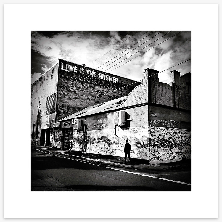 &quot;Love Is The Answer&quot;, Sydney. From the Ephemeral Sydney street series.<br />