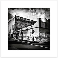 &quot;Love Is The Answer&quot;, Sydney. From the Ephemeral Sydney street series.<br /> <br /> As featured in my Head On Photo Festival 2018 associated exhibition &ldquo;Ephemeral Sydney&rdquo;.<br /> <br /> Available print sizes (unframed): <br /> <br /> 30 x 30 cm - Limited edition of six (6) signed &amp; numbered pigment ink prints on Hahnem&uuml;hle Photo Rag Bright White archival paper + maximum two (2) artist&rsquo;s proofs - $220<br /> <br /> 50 x 50 cm &ndash; Limited edition of six (6) as above - $450<br /> <br /> Framed prints available for delivery to Sydney metro area. POA.<br /> <br /> Price includes GST &amp; delivery within Australia.<br /> <br /> To order please email orders@girtbyseaphotography.com