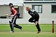 Morna Neilson bowling during the 2nd InternationaI one day cricket match between New Zealand White Ferns and England at Bert Sutcliffe Oval, Lincoln University, Christchurch, New Zealand on Saturday 3 March 2012. Photo: Richard Connelly / photosport.co.nz