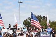 Crowd of Supporters at an Outdoor Rally at Santa Ana Valley High School