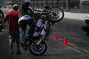 The heat was on and motorcycle tires were smoking at Irwindale Raceway whlie the XDL Freestyle Show was in full gear between 1pm and 8pm in Irwindale, Ca. Saturday August 8, 2009.