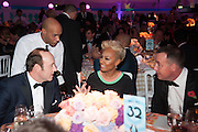 KEVIN SPACEY; EMILIE SANDE; DAVID FURNISH, Grey Goose Winter Ball to benefit the Elton John Aids Foundation. Battersea Power Station. London. 10 November 2012.