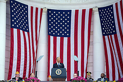 November 11, 2016 - Arlington, United States of America - U.S. President Barack Obama delivers his address during Veterans Day at the Memorial Amphitheater in Arlington National Cemetery November 11, 2016 in Arlington, Virginia. (Credit Image: © Lawrence Jackson/Planet Pix via ZUMA Wire)