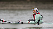 Putney, Great Britain.  2015 Pre Boat Race Fixture, Cambridge University Women's Boat Club vs Imperial College Women's Boat Club, Championship Course, River Thames.  England. <br /> {DOW{  {DATE}<br /> <br /> [Mandatory Credit; Peter Spurrier/Intersport-images]<br /> Crews: CUWBC:<br /> Cox, Rosemary Ostfeld.