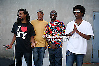 Pharcyde at Nikon at Jones Beach Amphitheater for 'Rock The Bells' 2008 on August 3, 2008. .Fatlip (dreads), Slim Kid Trey, Booty Brown and Imani Rock The Bells