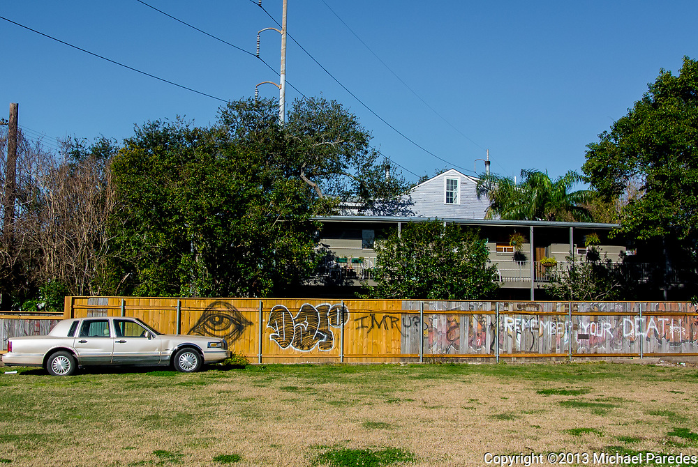 Graffiti in New Orleans' Lower Garden District
