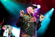 ORLANDO, FL - APRIL 3:  Mike Love of the Beach Boys performs at Universal Studios on April 3, 2010, in Orlando, Florida. The Beach Boys were performing as part of the Mardi Gras concert series. (Photo by Matt Stroshane/Getty Images) ***Local Caption*** Mike Love