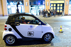 """© London News Pictures. File pic dated 17/12/2011. A Manchester City Council CCTV car is parked near to the Printworks venue, Manchester. The government has announced that it will ban widespread use of 'spy cars' by councils, claiming hat they have been used as a """"cash cow"""". Photo credit: Joel Goodman/LNP"""