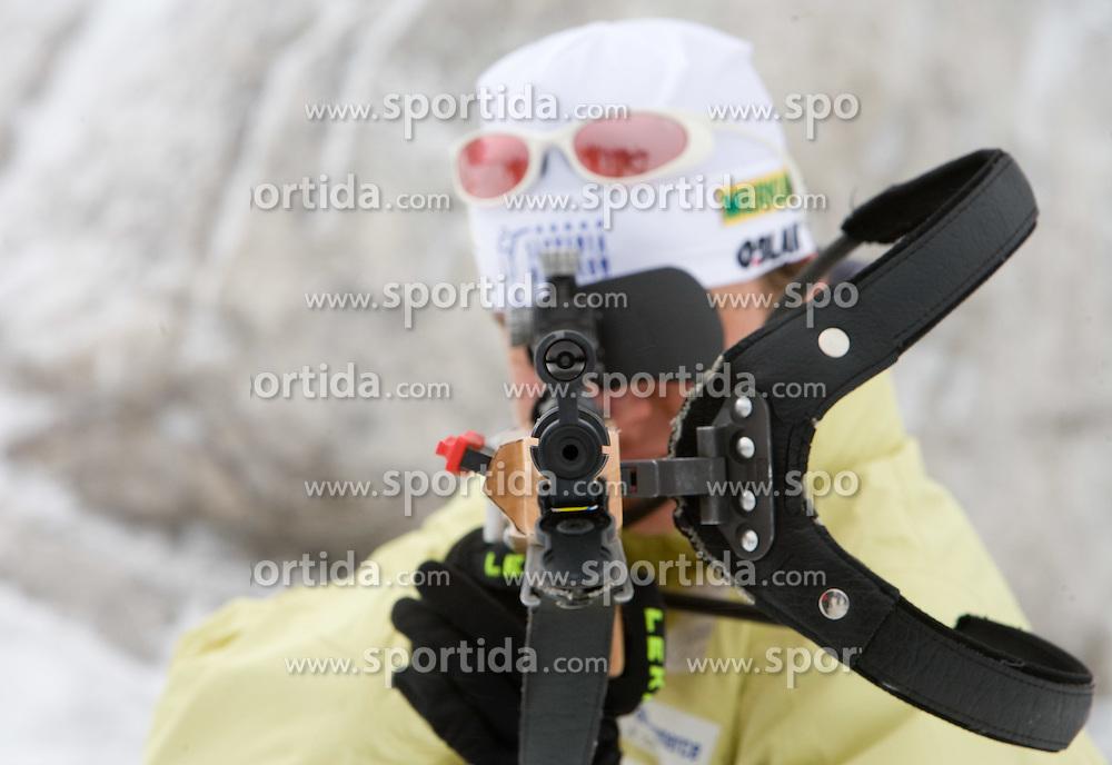 Sportsman of Slovenian Women Biathlon Team at Dachstein glacier before new season 2008/2009, Austria, on October 30, 2008.  (Photo by Vid Ponikvar / Sportida)
