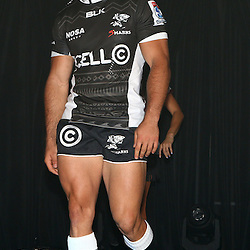 DURBAN, SOUTH AFRICA, December 3 2015 - Paul Jordaan during The Cell C Sharks Official Launch and unveiling of The Cell C Sharks Super Rugby Jersey at Growthpoint Kings Park in Durban, South Africa. (Photo by Steve Haag)<br /> images for social media must have consent from Steve Haag