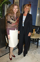 Left to right, PETRINA TEDESCHI and VICTORIA PROVIS at a fashion show with designs by Irish designer Louise Kennedy held in the Blue Bar, Berkeley Hotel, London on 12th May 2005.<br />
