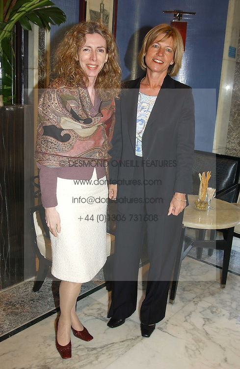 Left to right, PETRINA TEDESCHI and VICTORIA PROVIS at a fashion show with designs by Irish designer Louise Kennedy held in the Blue Bar, Berkeley Hotel, London on 12th May 2005.<br /><br />NON EXCLUSIVE - WORLD RIGHTS