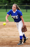 GLENSIDE, PA - MAY 29:  Conwell-Egan pitcher Alexis Gartner  delivers a pitch against Swenson during the District 12 Class AA softball championship May 29, 2014 at Arcadia University in Glenside, Pennsylvania. Conwell-Egan defeated Swenson 15-0. (Photo by William Thomas Cain/Cain Images)