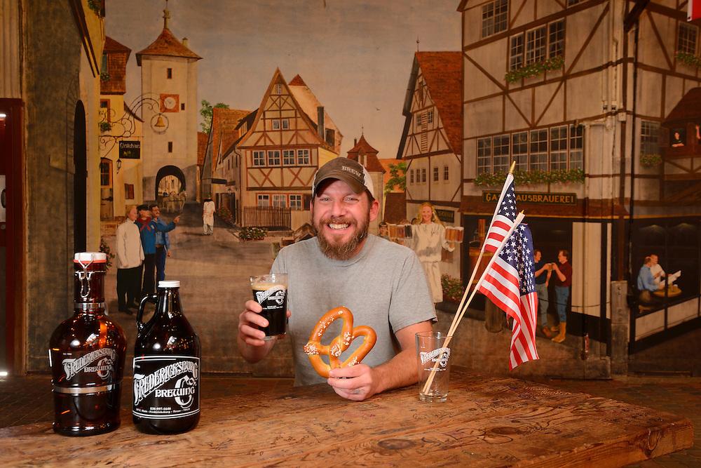 Elton Huebner, Brewmaster, Fredericksburg Brewing Restaurant,Fredericksburg,Hill Country,Texas,USA