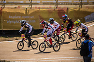 2018 Youth Olympic Games<br /> Buenos Aires, Argentina<br /> Mixed BMX - Race<br /> Motos<br /> SMITH Jessie (NZL)<br /> CLAESSENS Zoe (SUI)<br /> BRADFORD Elissa (GBR)<br /> NAGARE Miru (JAP)<br /> NAVES BARRETO Maite (BRA)