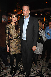 FRITZ VON WESTENHOLZ and CAROLINE SIEBER at a party to celebrate the publication of Table Talk by A  A Gill held at Luciano, 72-73 St.James's, London on 22nd October 2007.<br />