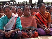 Caption : People gathered at a village meeting, to know about the anti-witch hunt.  Photo/Shib Shankar Chatterjee.