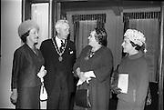 02/06/1964 <br /> 06/02/1964<br /> 02 June 1964<br /> Irish Nurses Organisation Annual General Meeting at Jury's Hotel, Dublin. Picture shows (l-r): Miss M.I. Howard, Deputy General Secretary, Royal College of Nursing, London (guest speaker); The Lord Mayor, Alderman Sean Moore, T.D.; Miss M. McCabe, President I.N.O. (Dublin) and Miss M. Burke, St. Finbarrs Hospital (Cork).