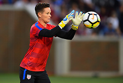 September 19, 2017 - Cincinnati, OH, USA - Cincinnati, OH - Tuesday September 19, 2017: Ashlyn Harris during an International friendly match between the women's National teams of the United States (USA) and New Zealand (NZL) at Nippert Stadium. (Credit Image: © Brad Smith/ISIPhotos via ZUMA Wire)