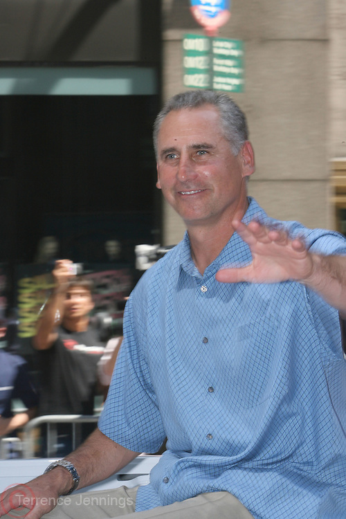 Matt Black at the Major League Baseball All-Stars and 49 Hall of Famers ride up Sixth Avenue in All Star-Game Red Carpet Parade Presented by Chevy on July 15, 2008