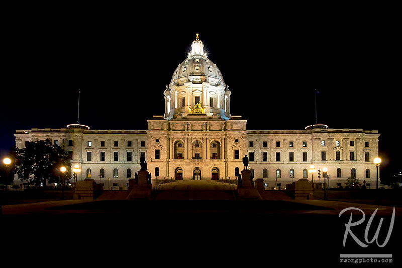 Minnesota State Capitol Building at Night, Saint Paul, Minnesota