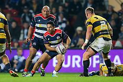 David Lemi (capt) of Bristol Rugby in action - Rogan Thomson/JMP - 14/10/2016 - RUGBY UNION - Ashton Gate Stadium - Bristol, England - Bristol Rugby v Saracens - EPCR Challenge Cup.