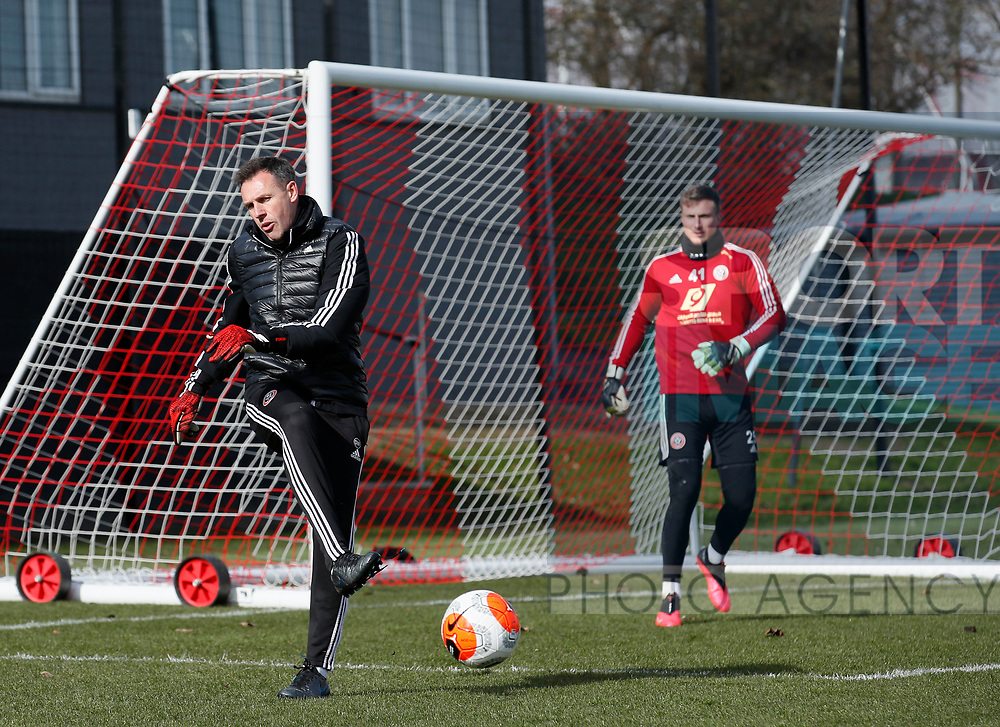 Darren Ward Sheffield Utd coach during a training session at the Steelphalt Academy, Sheffield. Picture date: 5th March 2020. Picture credit should read: Simon Bellis/Sportimage