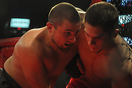 Codie Shuffield fights in an MMA match in Southaven, Miss. on Saturday, May 19, 2012.