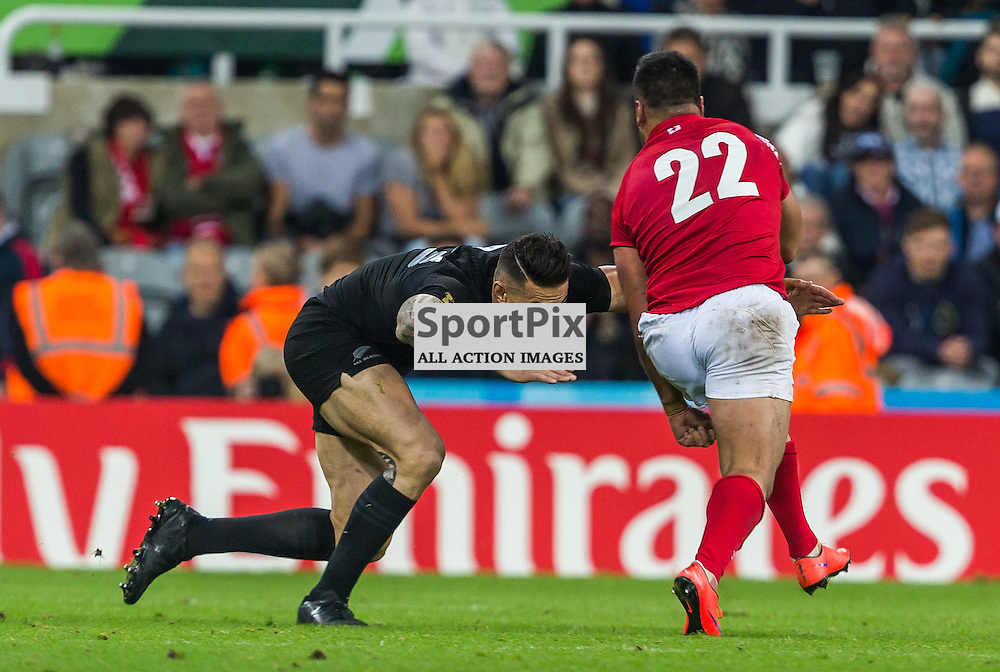 Sonny Bill Williams in action during the Rugby World Cup match between New Zealand and Tonga (c) ROSS EAGLESHAM | Sportpix.co.uk