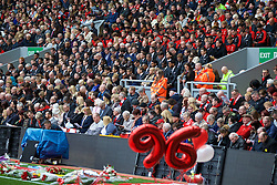 LIVERPOOL, ENGLAND - Friday, April 15, 2016: Liverpool players during the 27th Anniversary Hillsborough Service at Anfield. (Pic by David Rawcliffe/Propaganda)