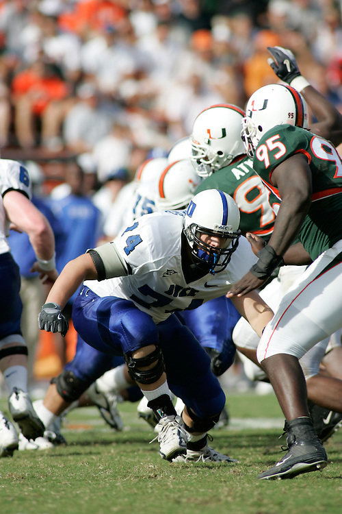 DUKE FOOTBALL @ Miami, October 8, 2005.