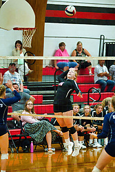 12 September 2019:    Fieldcrest Knights at Heyworth Hornets Girls Volleyball at Heyworth Illinois