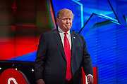 Presidential hopeful Donald Trump before the CNN Republican Presidential Debate at the Venetian Hotel and Casino in Las Vegas.