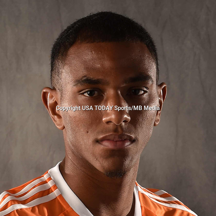Feb 25, 2016; USA; Houston Dynamo player Ivan Magalhaes poses for a photo. Mandatory Credit: USA TODAY Sports