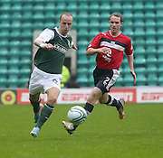 Leigh Griffiths and Gary Irvine  - Hibernian v Dundee - Clydesdale Bank Scottish Premier League at Easter Road.. - © David Young - www.davidyoungphoto.co.uk - email: davidyoungphoto@gmail.com