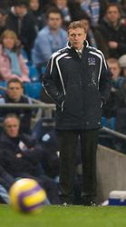 MANCHESTER, ENGLAND - Monday, February 25, 2008: Everton's manager David Moyes during the Premiership match against Manchester City at the City of Manchester Stadium. (Photo by David Rawcliffe/Propaganda)
