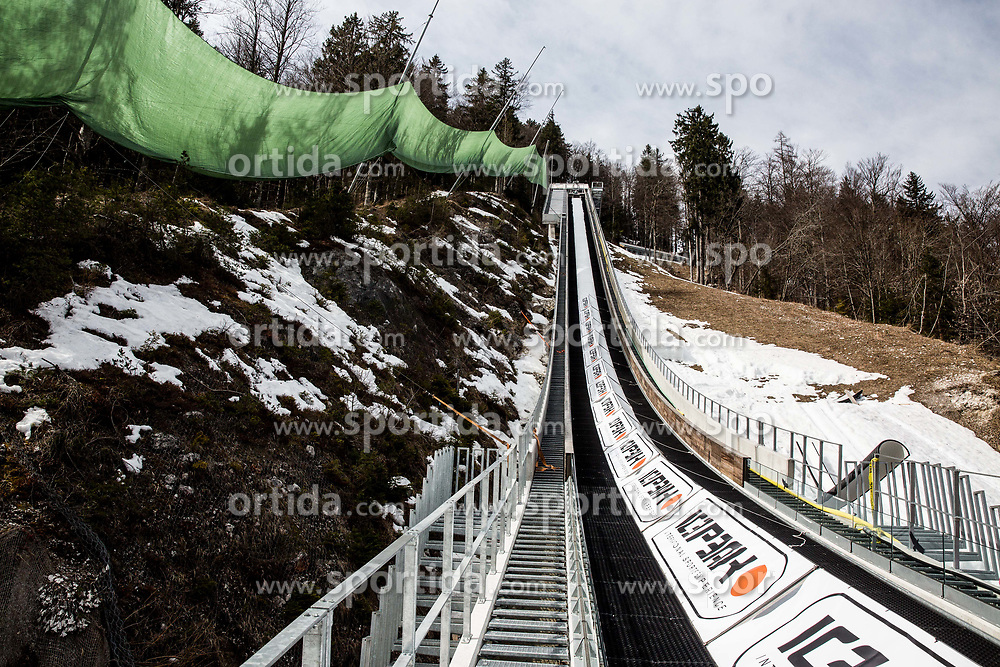 Preparation of Planica Hill 1 week before FIS Ski Flying World Cup, on March 14, 2017 in Planica, Slovenia. Photo by Vid Ponikvar / Sportida