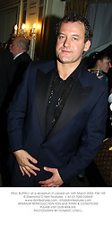 PAUL BURRELL at a reception in London on 16th March 2004.PSK 149